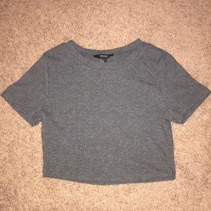 Ribbed Gray Forever 21 Crop Top